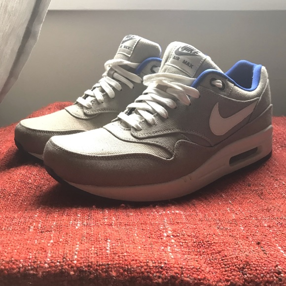 Nike Air Max 1 Premium Stone Sail Blue-Anthracite 331139683